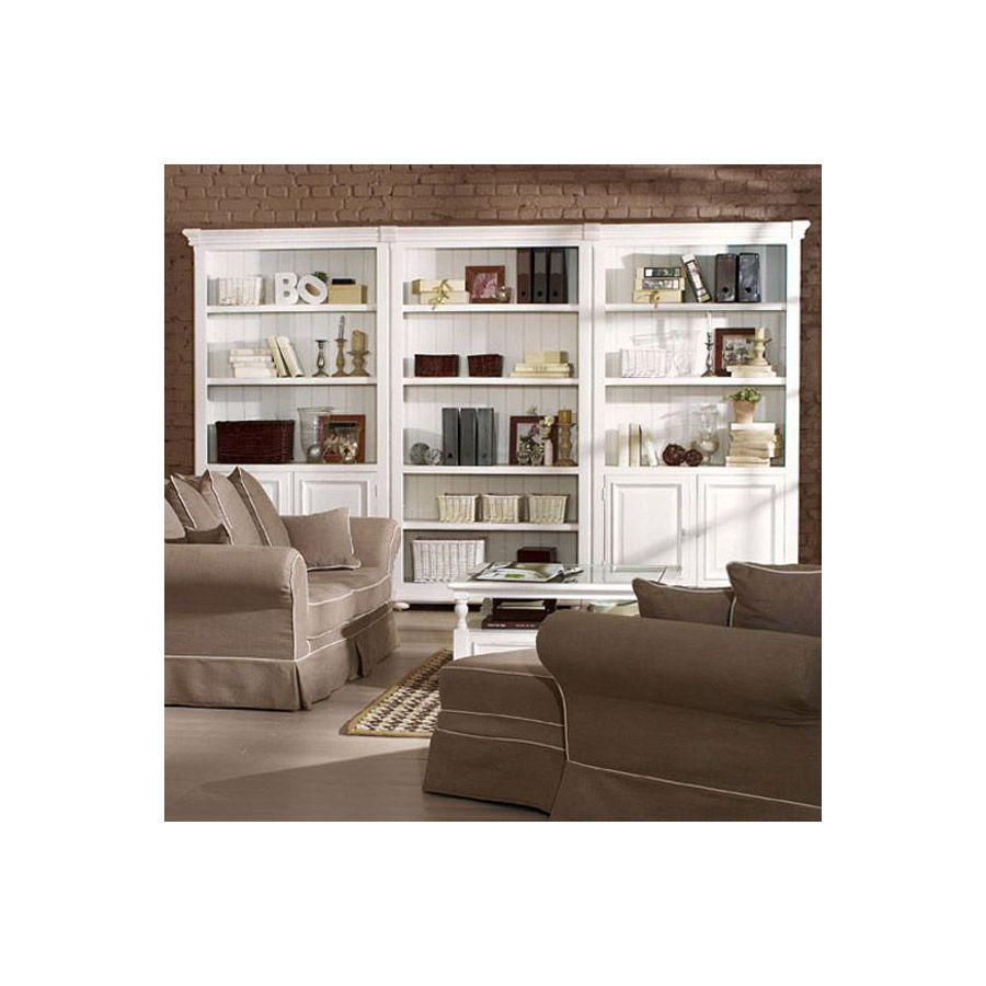 Set de finition pour bibliothèques modulables en bois blanc - Harmonie