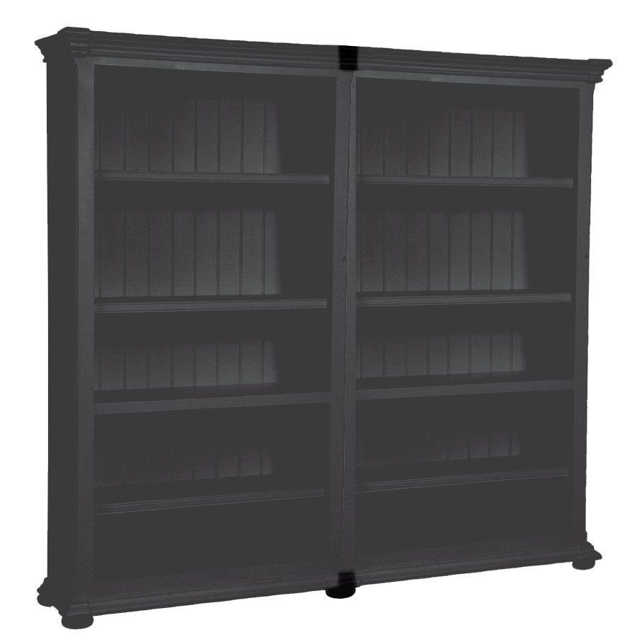 Set de jonction pour bibliothèques modulables en bois noir - Harmonie