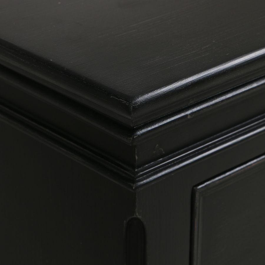 Commode noire baroque 4 tiroirs - Harmonie