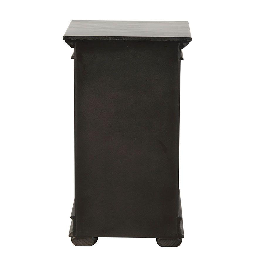 Table de chevet noire en bois - Harmonie