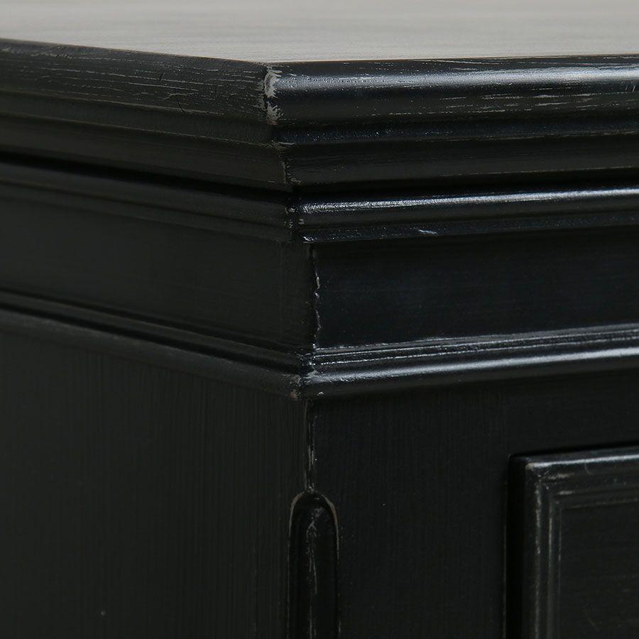 Commode 5 tiroirs noire - Harmonie