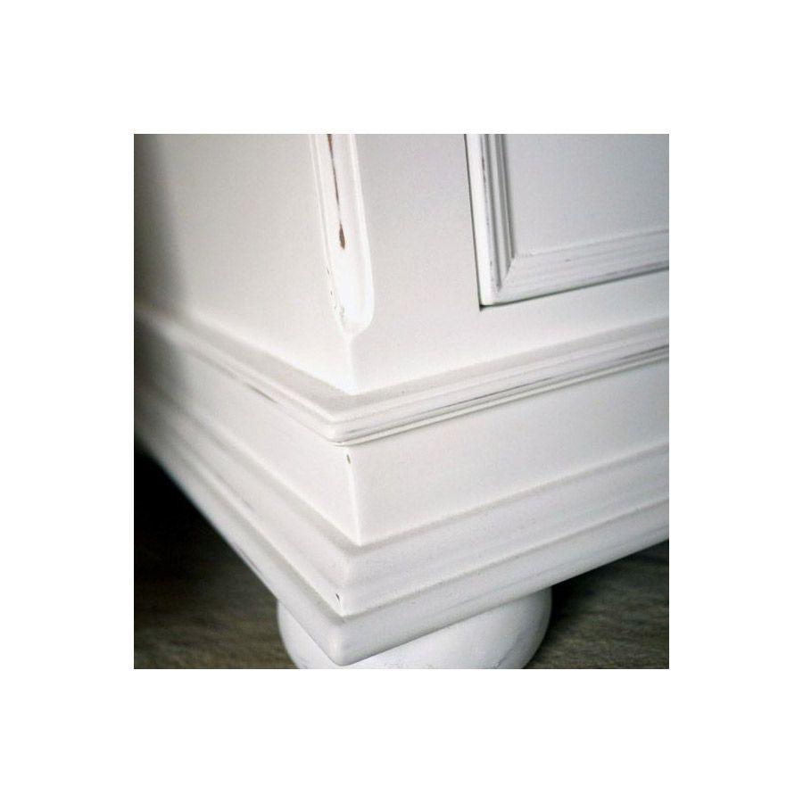 Commode blanche 6 tiroirs 3 tirettes - Harmonie