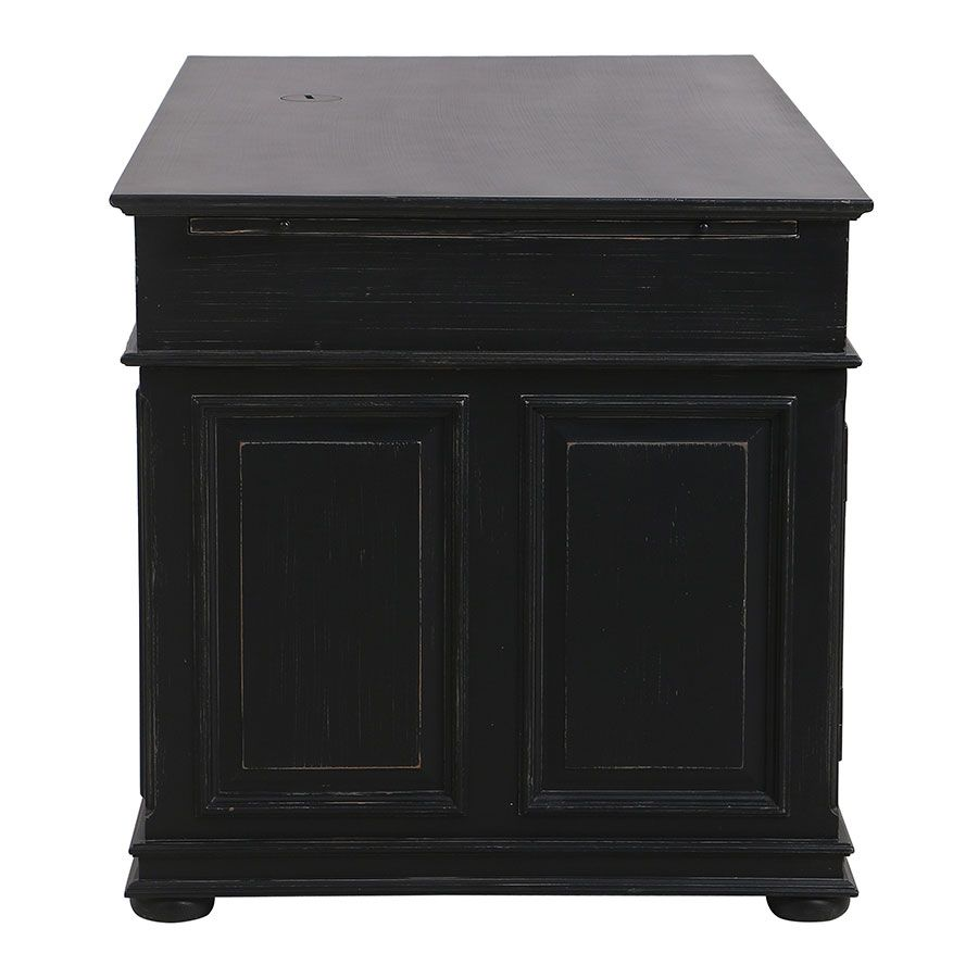 Bureau informatique noir avec tiroirs - Harmonie