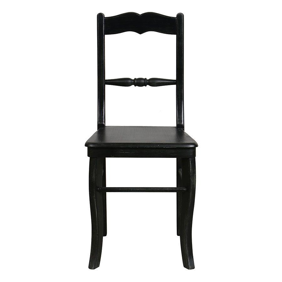 Chaise noire baroque en bois - Harmonie