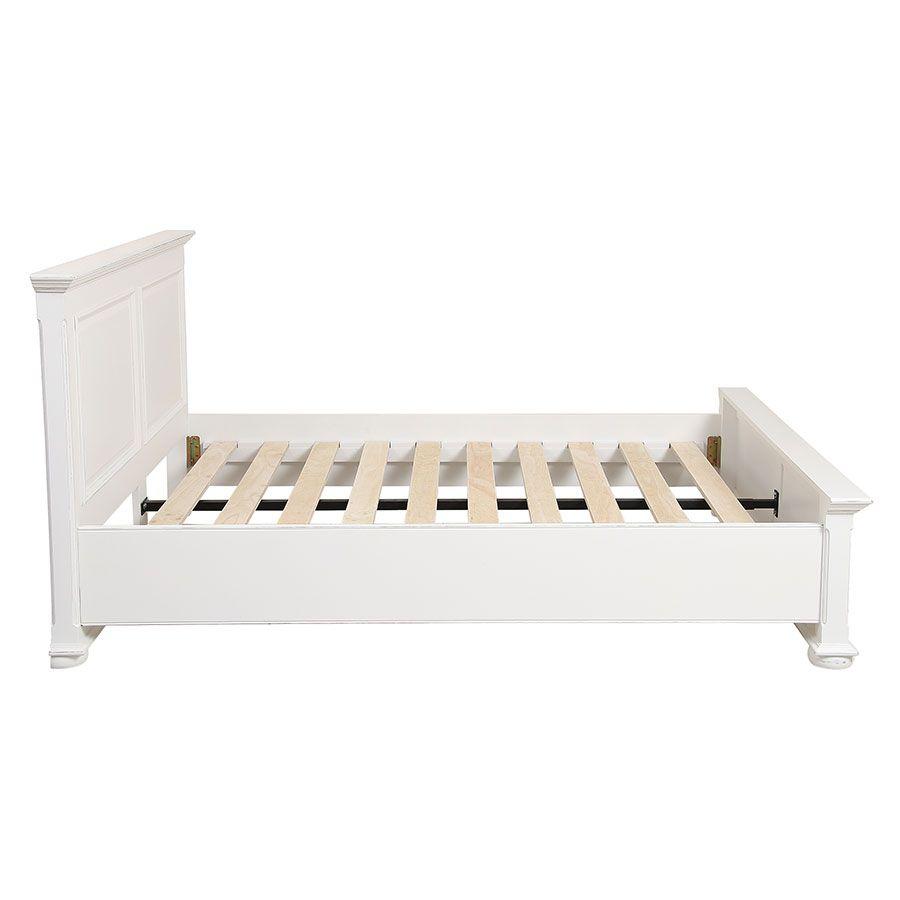 Lit 140x190 en bois blanc - Harmonie