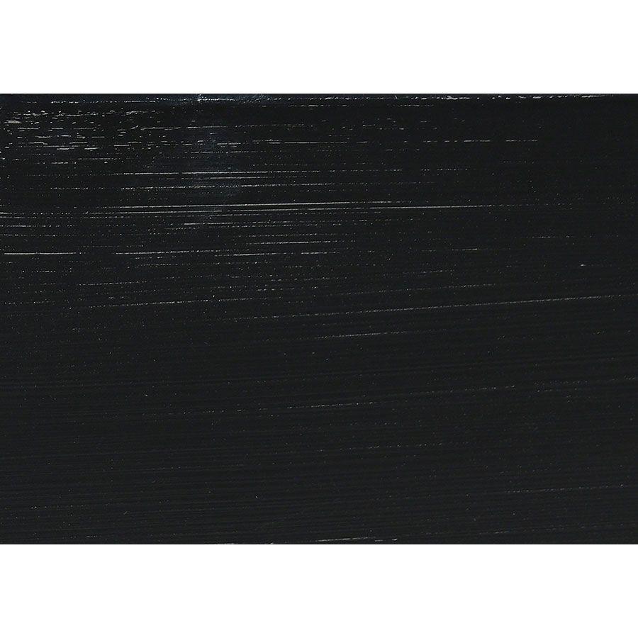 Lit 160x200 avec tiroirs en bois noir - Harmonie