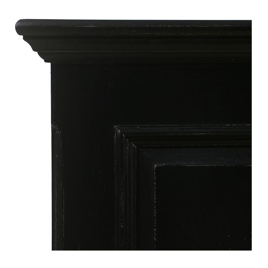 Lit 160x200 en bois noir - Harmonie