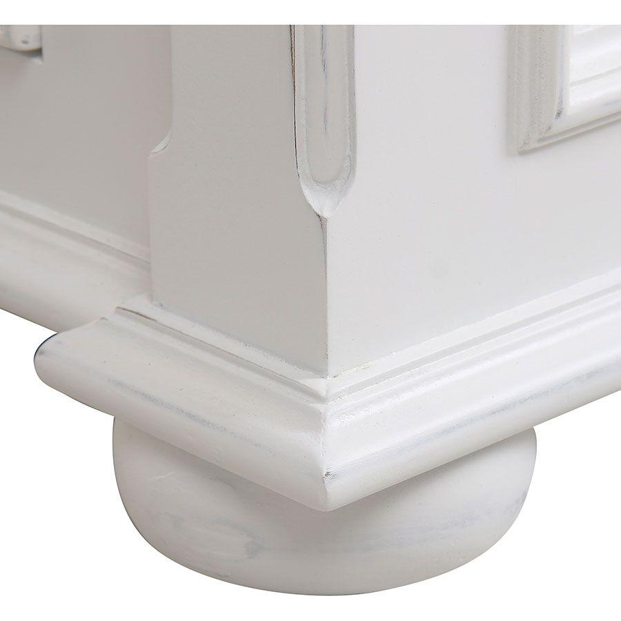 Lit 180x200 avec tiroirs en bois blanc satiné - Harmonie