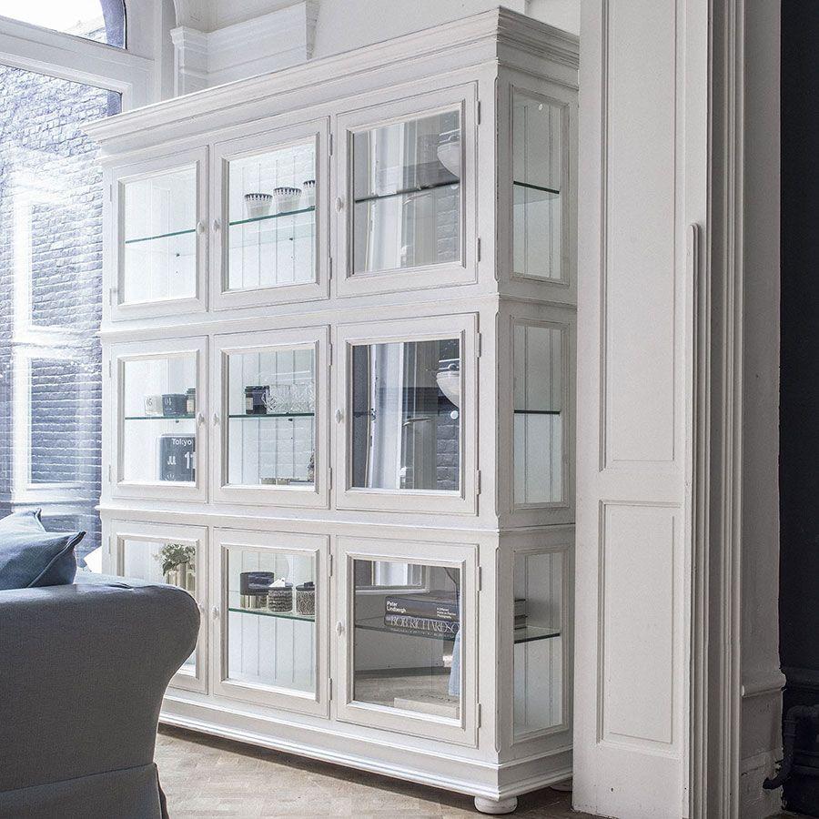 Caisson blanc portes vitrées - Harmonie