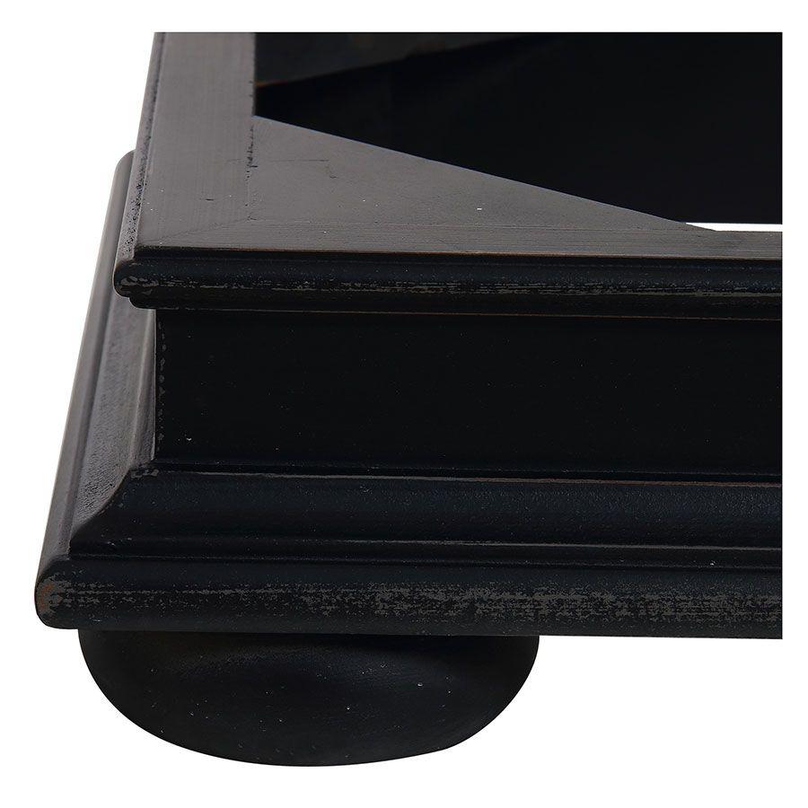 Plinthe pour caisson en bois noir - Harmonie