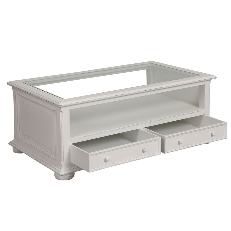 Table basse blanche rectangulaire - Harmonie