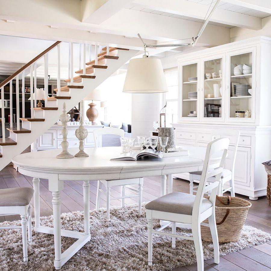 Buffet vaisselier blanc 3 portes vitrées - Harmonie