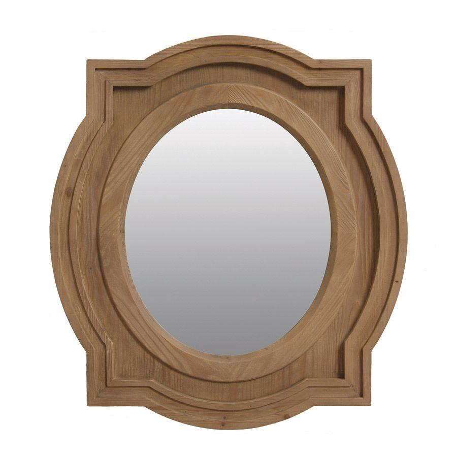 Miroir ovale en épicéa