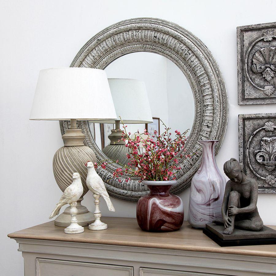 Lampe sur pied blanc en bois