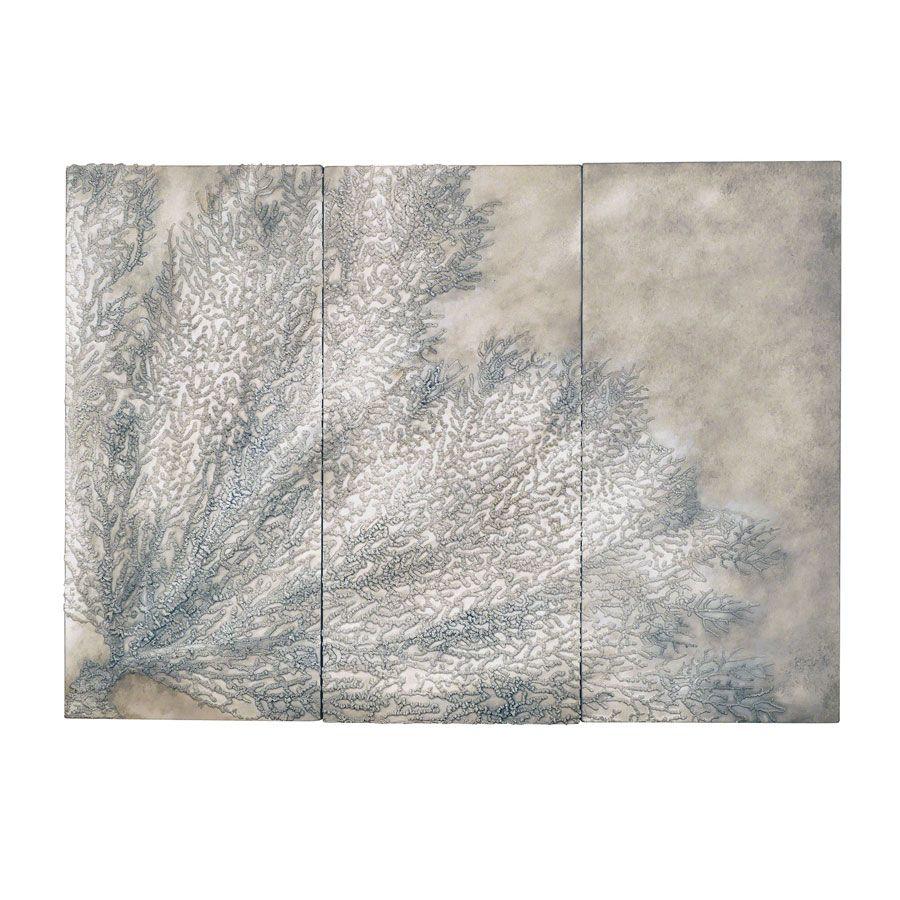 Tableau mural triptyque corail clair