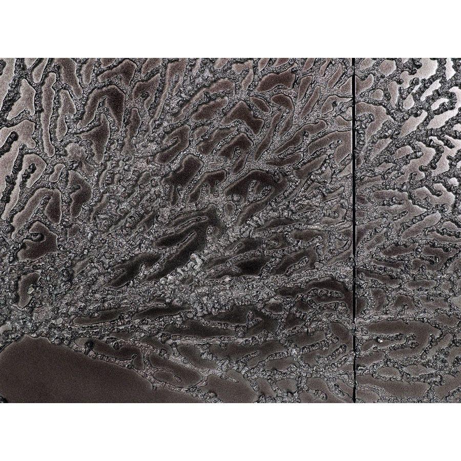 Tableau mural triptyque corail foncé