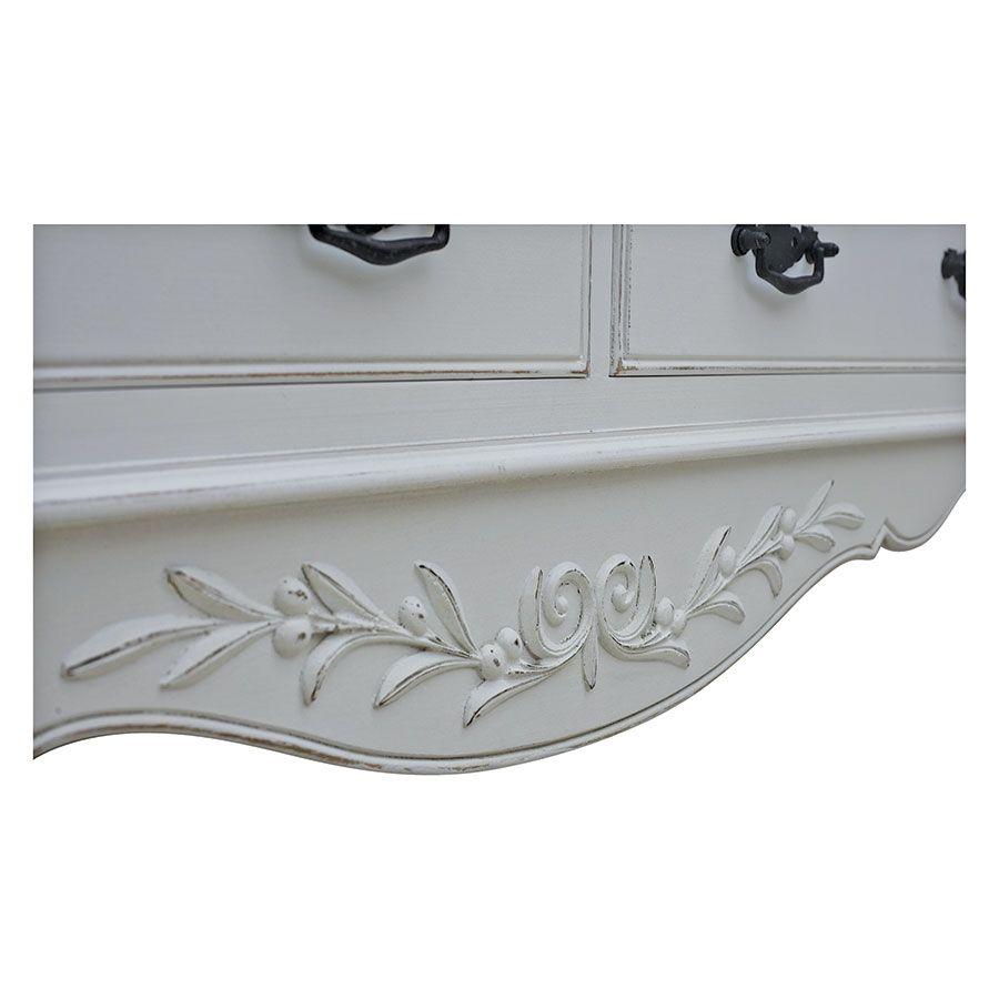 Commode blanche 14 tiroirs - Romance