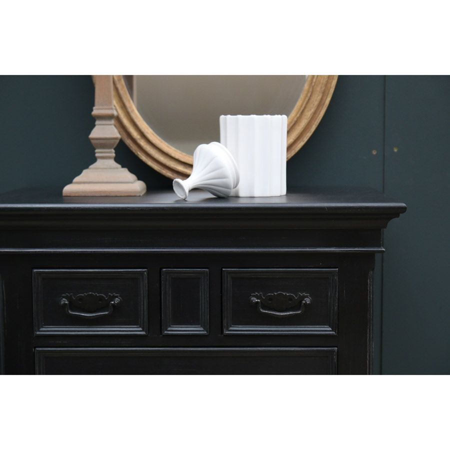 Commode semainier noire 7 tiroirs - Romance