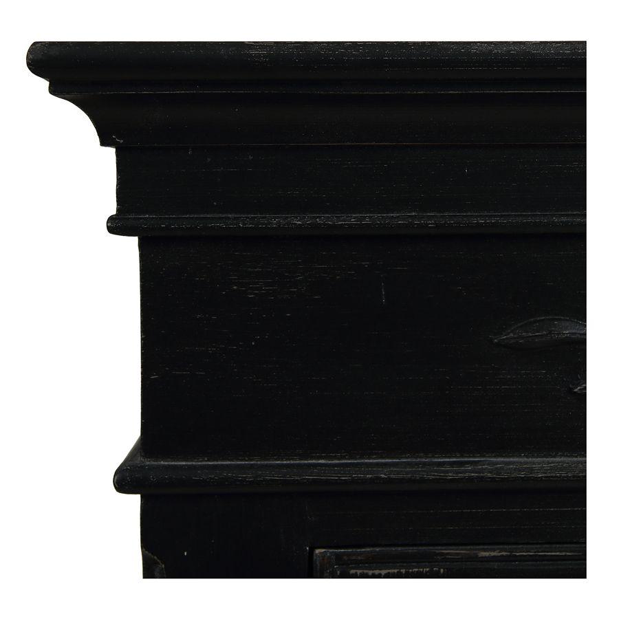 Armoire penderie bonnetière noire 1 porte en bois - Romance