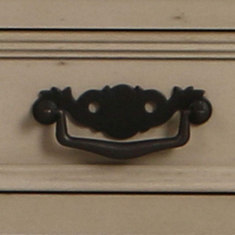 Buffet bas taupe 4 portes en bois - Romance
