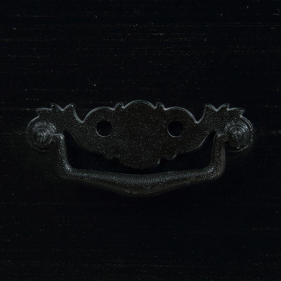 Commode galbée noire 3 tiroirs - Romance