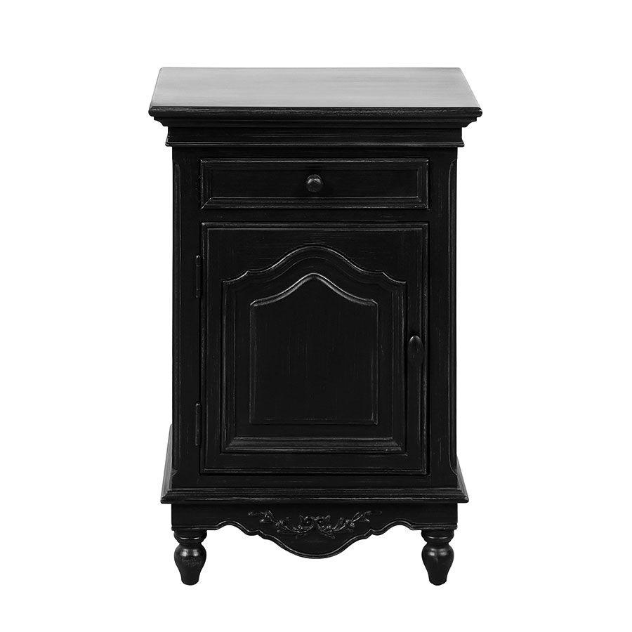 Table de chevet 1 porte 1 tiroir - Romance