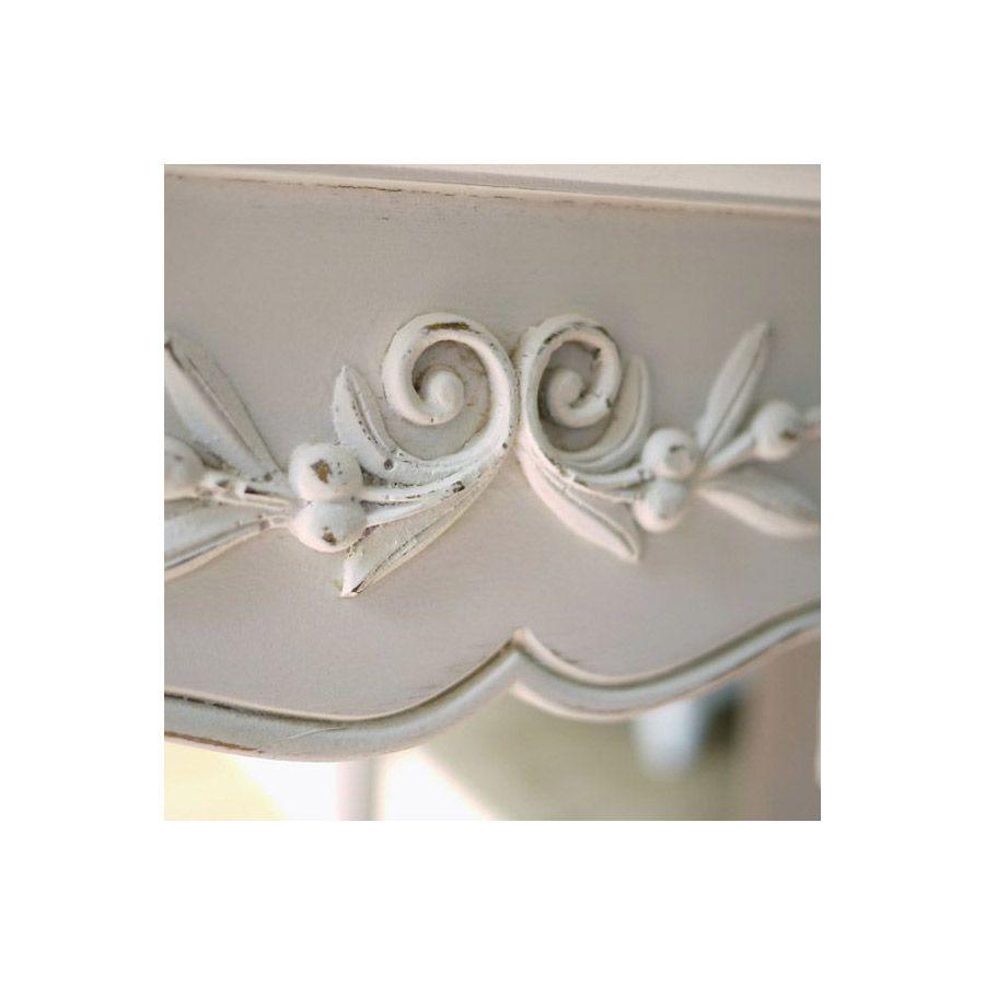 Console blanche 2 tiroirs - Romance