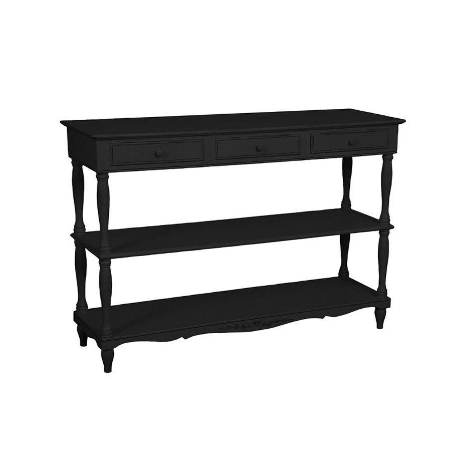 Table drapier noire en bois - Romance