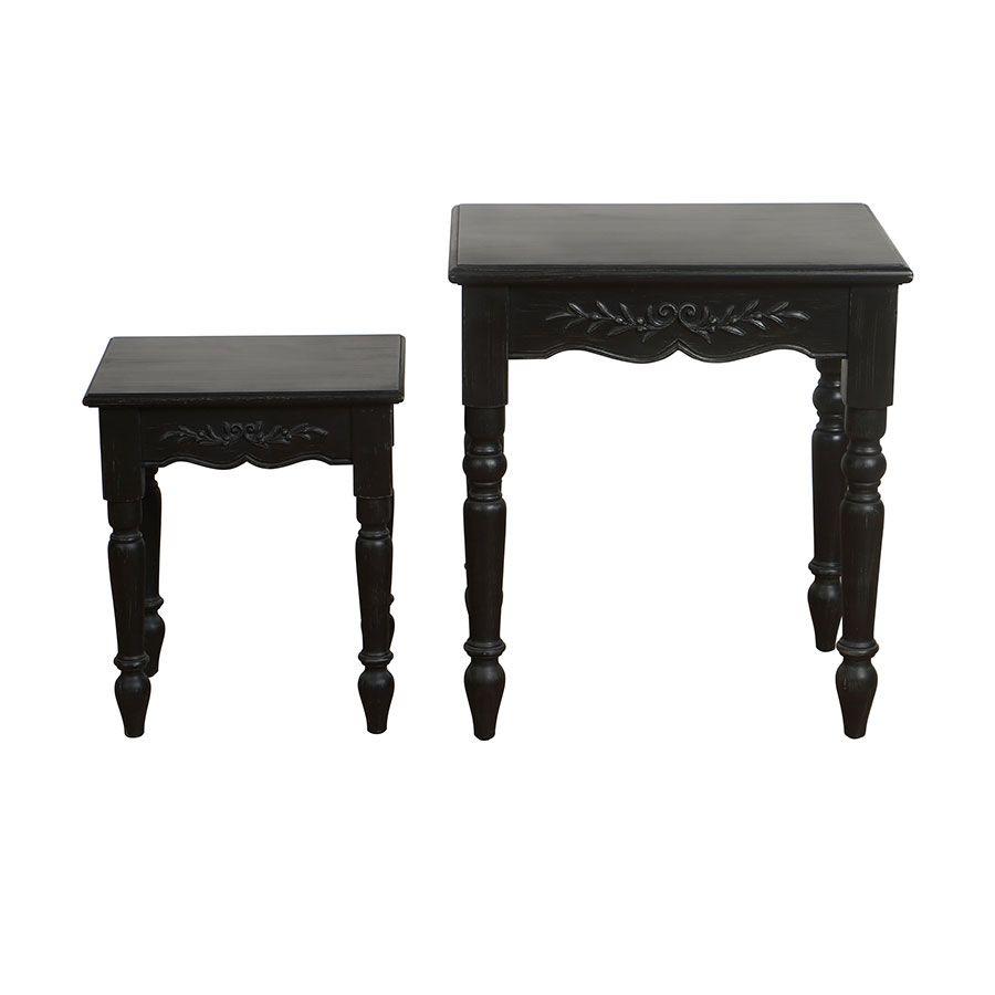 Tables gigognes noires - Romance