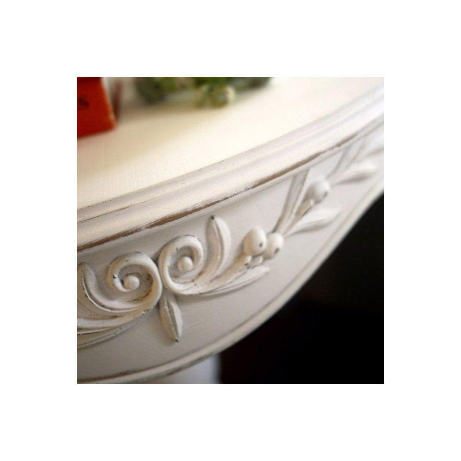 Guéridon blanc en bois - Romance