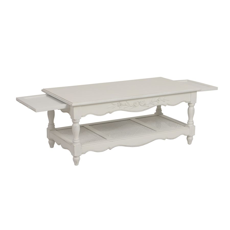 Table basse blanche rectangulaire - Romance