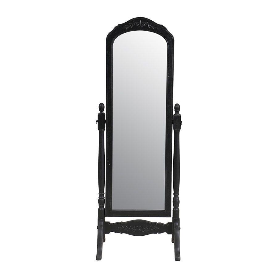 Miroir psyché noir en bois - Romance