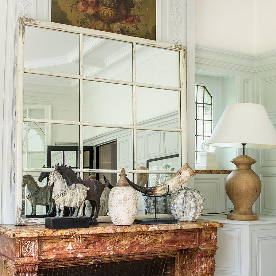 Miroir fenêtre en épicéa massif