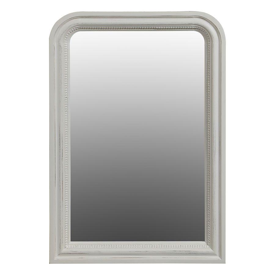 Miroir perlé blanc - Les Miroirs d'Interior's