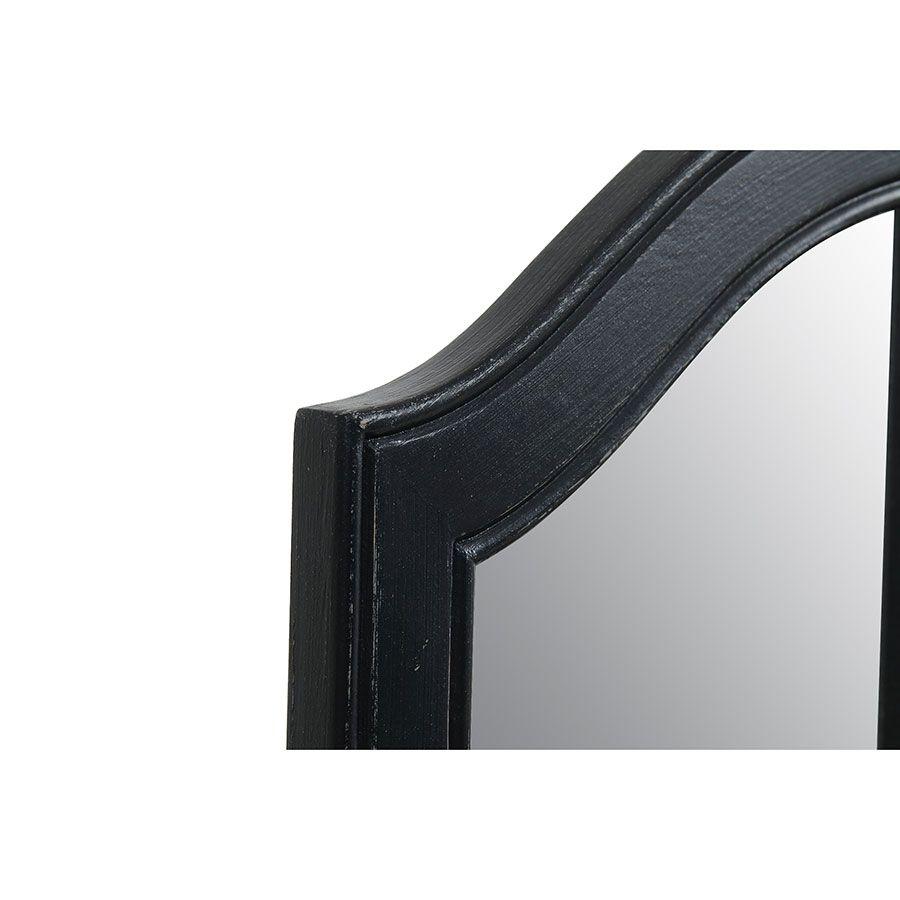Miroir coiffeuse en bois noir - Romance