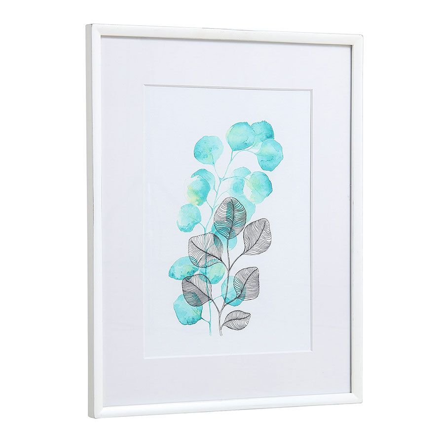 Tableau à motif floral à l'aquarelle