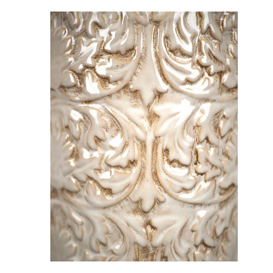 Pot d'officine en céramique avec motifs en relief
