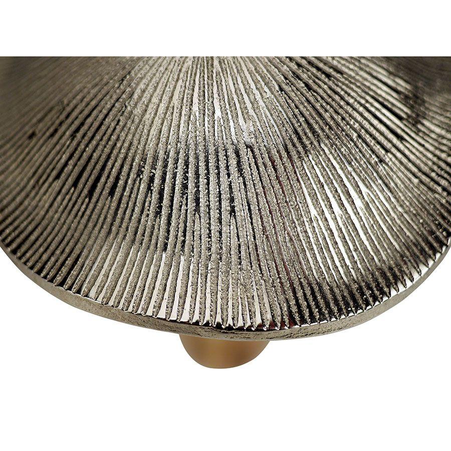 Duo champignons bois et métal