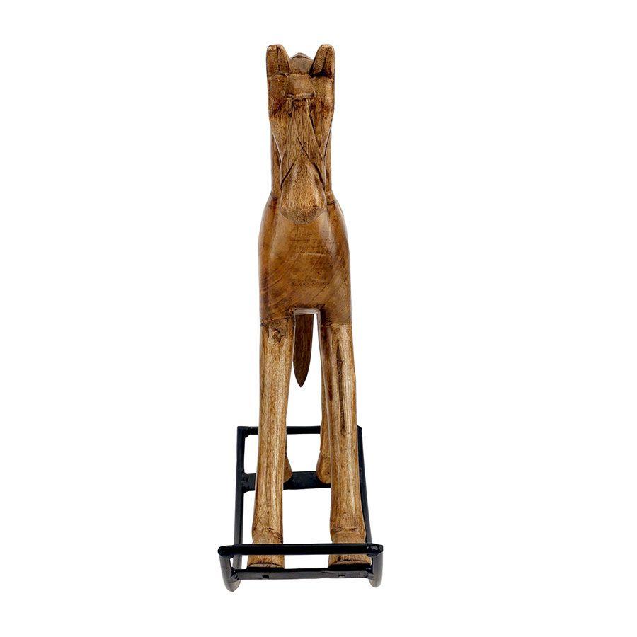 Cheval à bascule en manguier