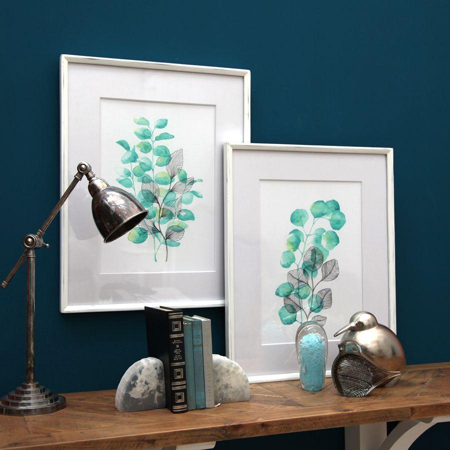 Tableau avec illustration végétale à l'aquarelle