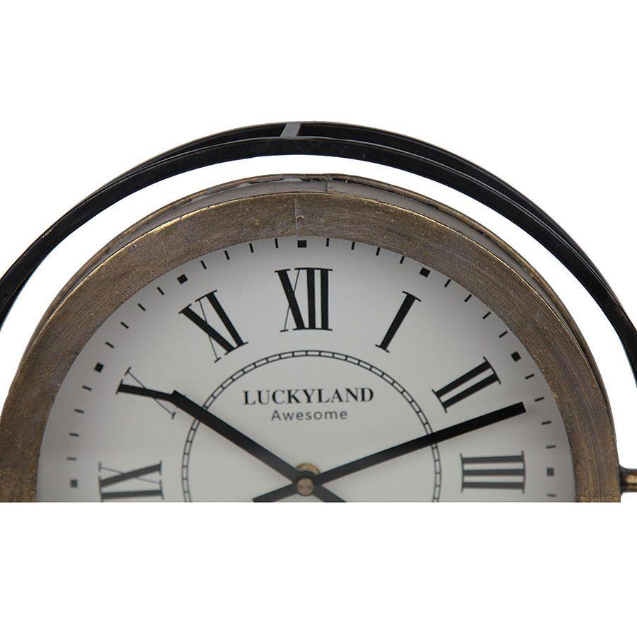Horloge ronde en métal