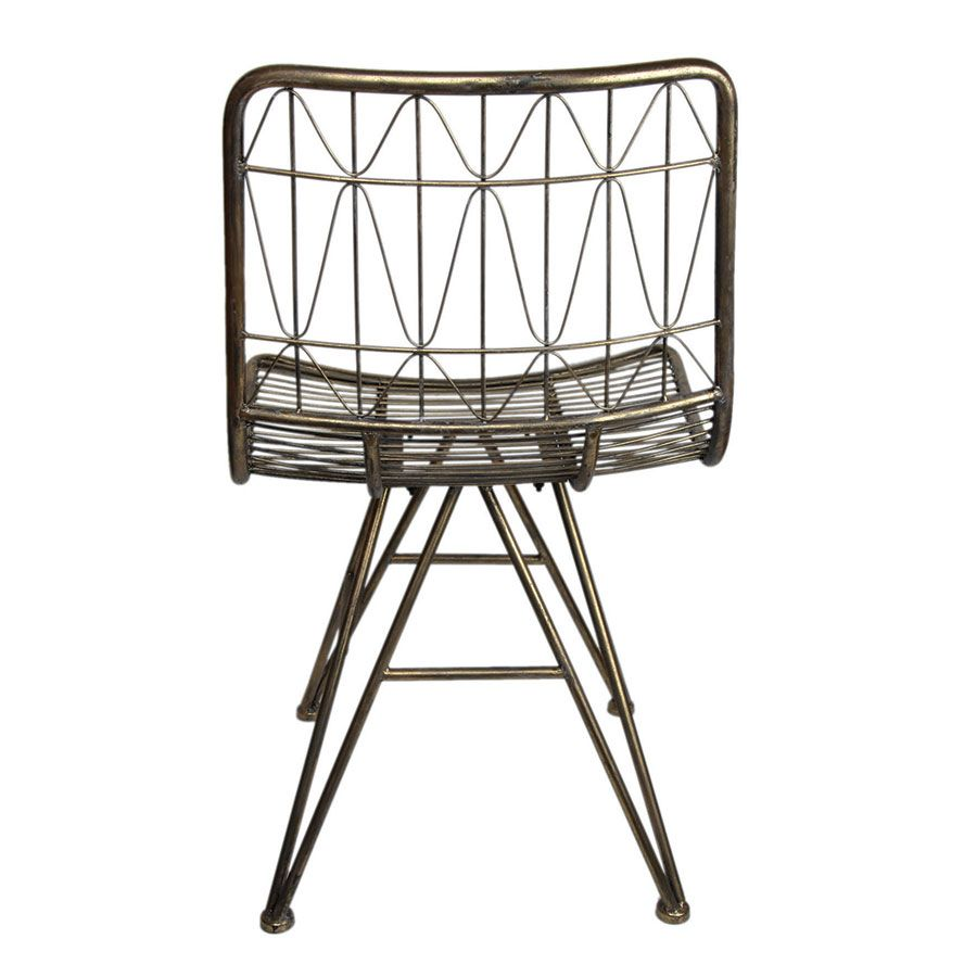 Chaise en métal laitonné