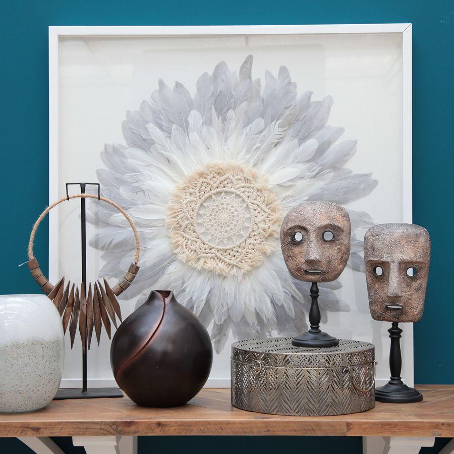 Vase boule en métal