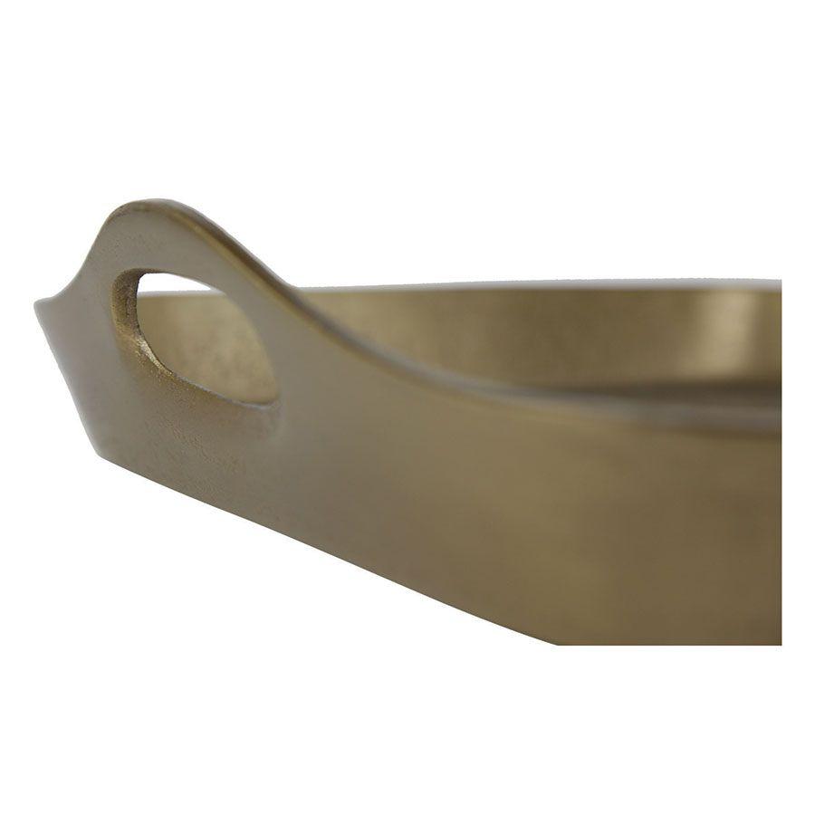 Plateau en métal Doré