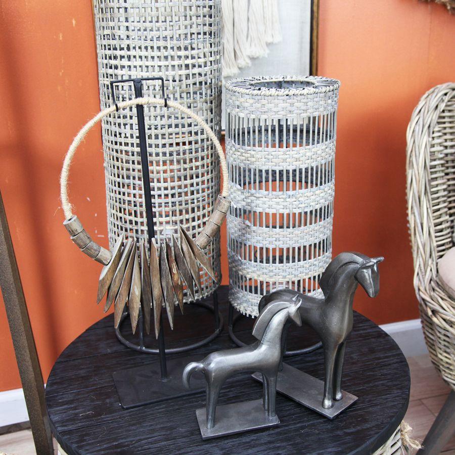 Statue cheval en métal grand modèle