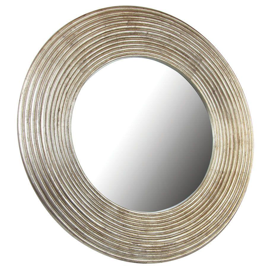 Miroir rond mordoré