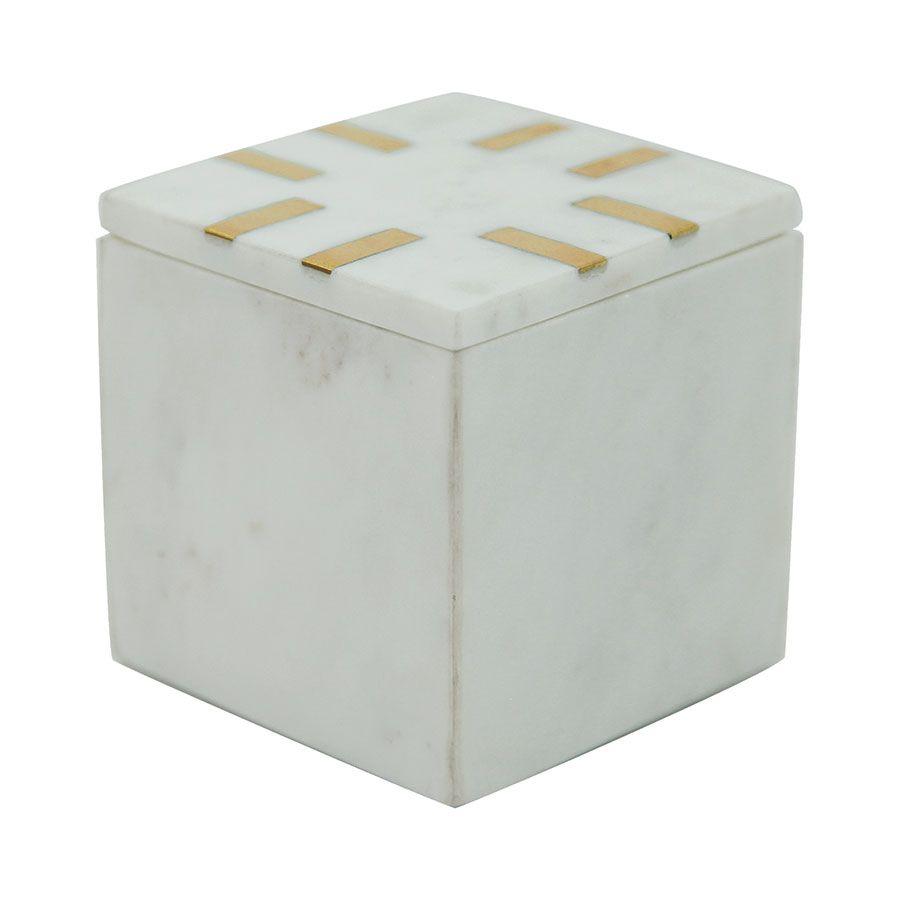 Boîte carrée en marbre
