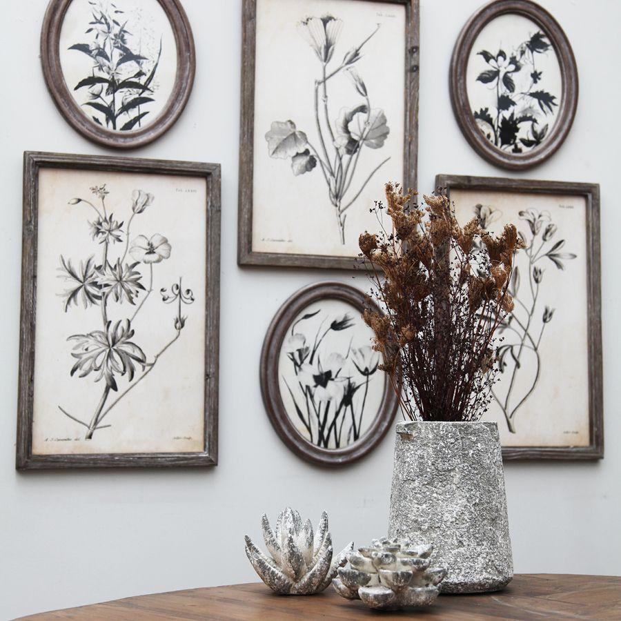 Fleur en céramique aspect ciment