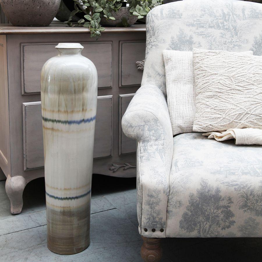 Grand vase décoratif en céramique à poser au sol