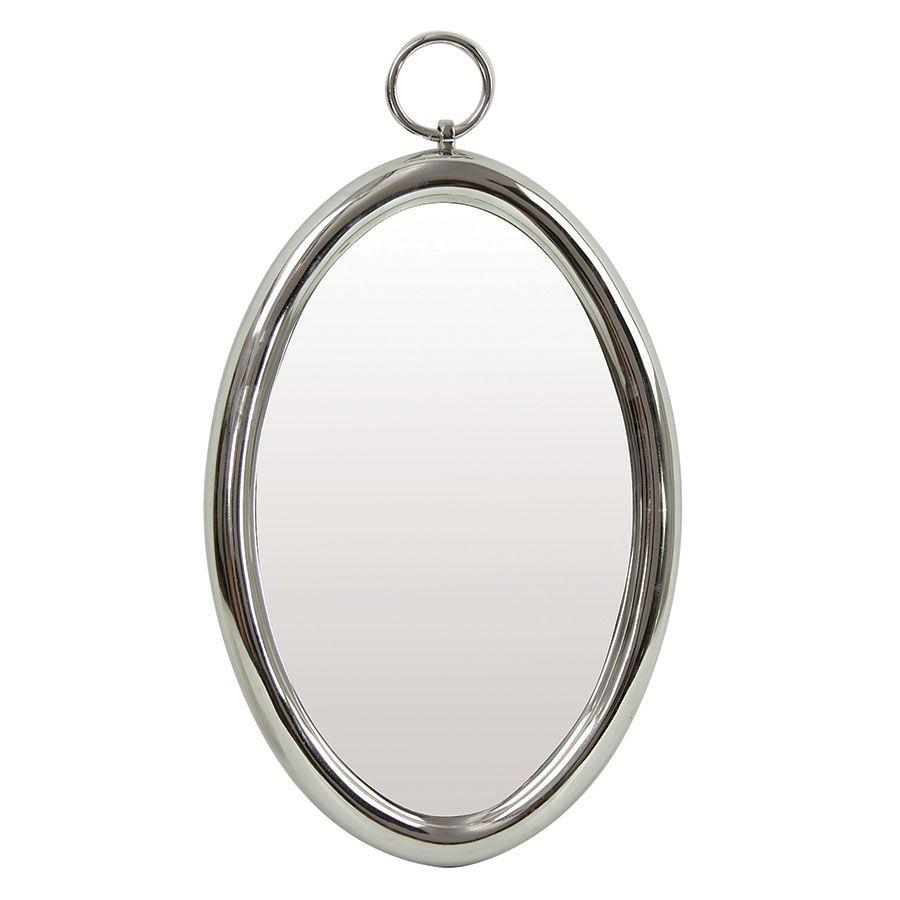 Miroir gousset ovale